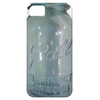 Vintage Blue Canning Jar iPhone 5 Cover
