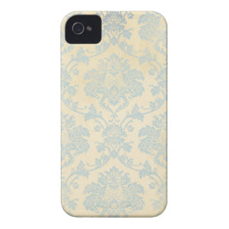 Vintage Blue Damask iPhone 4 Covers