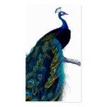 Vintage Blue Elegant Colourful Peacock Business Card