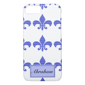 Vintage Blue Fleur de lis iPhone 8/7 Case