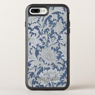 Vintage Blue Floral Pattern OtterBox Symmetry iPhone 8 Plus/7 Plus Case