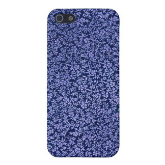 Vintage Blue Flowers Cover For iPhone 5/5S
