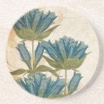 Vintage Blue Flowers Drink Coasters