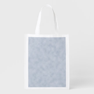 Vintage Blue Gray Parchment Look Texture Grocery Bags