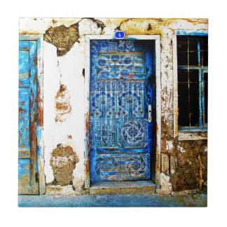Vintage Blue Greek Door Rustic Style Tile