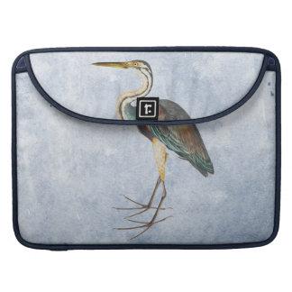 Vintage Blue Heron painting Sleeve For MacBook Pro