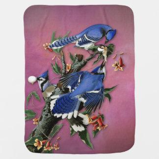 Vintage Blue Jays Illustration (Audubon) Baby Blanket
