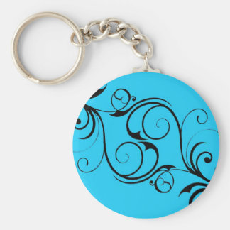 Vintage Blue Keychain
