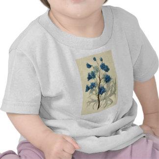 Vintage Blue Larkspur Flower Tshirts