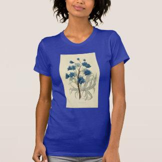 Vintage Blue Larkspur Flower Shirt