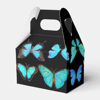 Vintage Blue Morpho Butterflies Favor Box