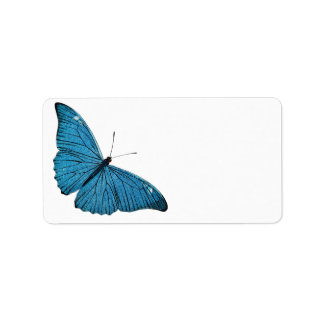 Vintage Blue Morpho Butterfly Customized Template