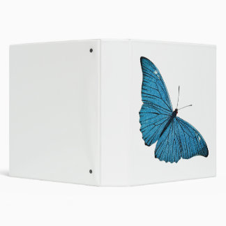 Vintage Blue Morpho Butterfly Customized Template Binder