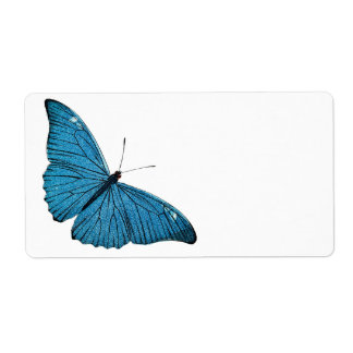 Vintage Blue Morpho Butterfly Customized Template Shipping Label