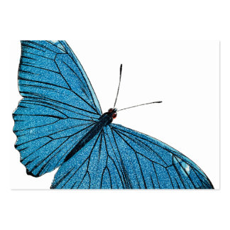 Vintage Blue Morpho Butterfly Customized Template Large Business Card