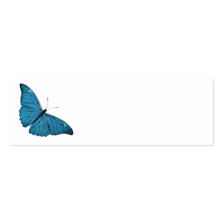 Vintage Blue Morpho Butterfly Customized Template Mini Business Card