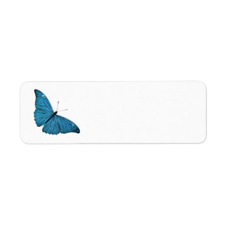Vintage Blue Morpho Butterfly Customized Template Return Address Label