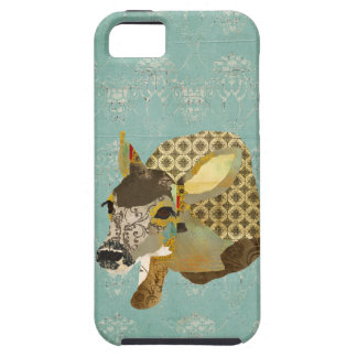 Vintage Blue Ornate Fawn iPhone Case