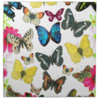 Vintage Blue Red Yellow Colourful Butterflies Napkin