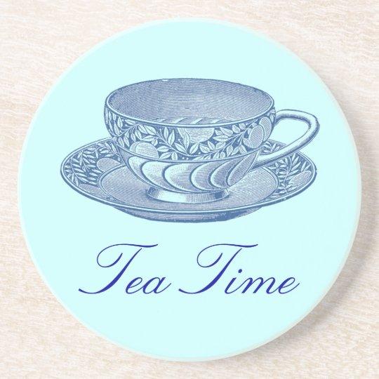 Vintage Blue Tea Cup Coaster