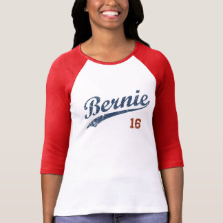 Vintage Blue Text Swoosh Bernie 16 Shirt