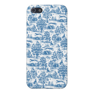 Vintage Blue Toile Touch  iPhone 5 Case
