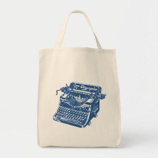 Vintage Blue Typewriter Tote Bag