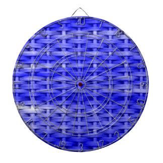 Vintage blue wicker art graphic design dartboard