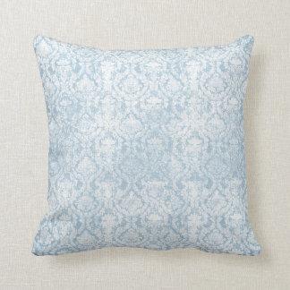 Vintage blueberry floral design throw pillow