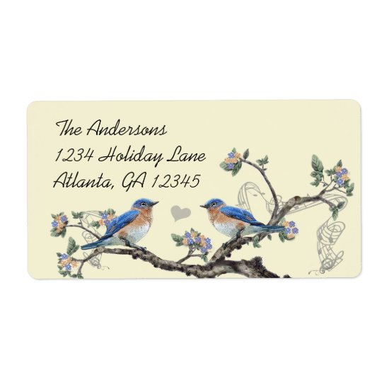 Vintage Bluebird Labels Felt