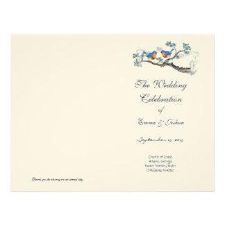 Vintage Bluebird  Program Cover Custom Letterhead