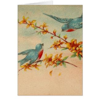 Vintage Bluebirds Card
