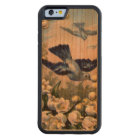 vintage bluebirds flowers lily of the valley birds carved cherry iPhone 6 bumper case