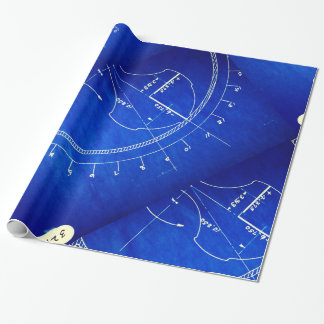 Vintage Blueprint Diagram No. 327 Wrapping Paper