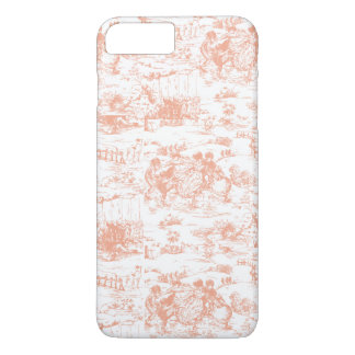 Vintage Blush Pink French Toile iPhone 7 Plus Case