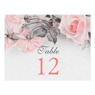 Vintage Blush Pink Rose Wedding Table Cards