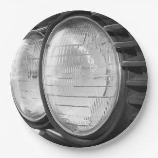 Vintage BMW headlights 9 Inch Paper Plate