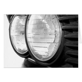 vintage BMW headlights Card