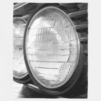 vintage BMW headlights Fleece Blanket