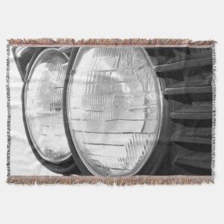 vintage BMW headlights Throw Blanket