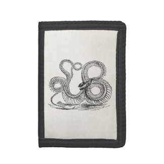 Vintage Boa Snake Skeleton Personalized Template Tri-fold Wallets
