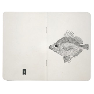Vintage Boar Fish - Aquatic Fishes Template Blank Journals