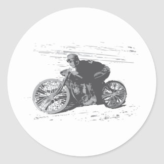 Vintage Board Track Motorcycle Racer#3 Classic Round Sticker