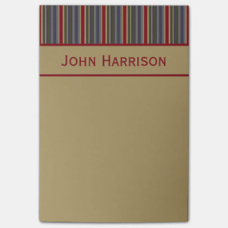 Vintage Boathouse Stripes Personalized Post-it® Notes