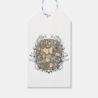 vintage body parts together gift tags