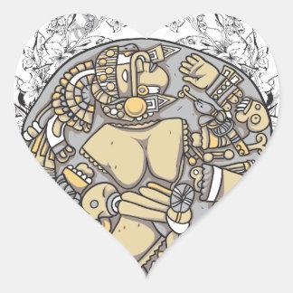 vintage body parts together heart sticker