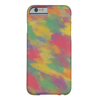 vintage Bohemian style colorful brushstrokes Barely There iPhone 6 Case