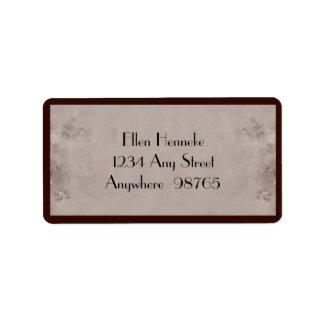 Vintage Bohemian Woman Label