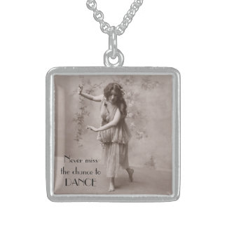 Vintage Bohemian Woman Sterling Silver Necklace