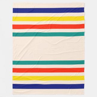 Vintage Bold Striped Fleece Blanket